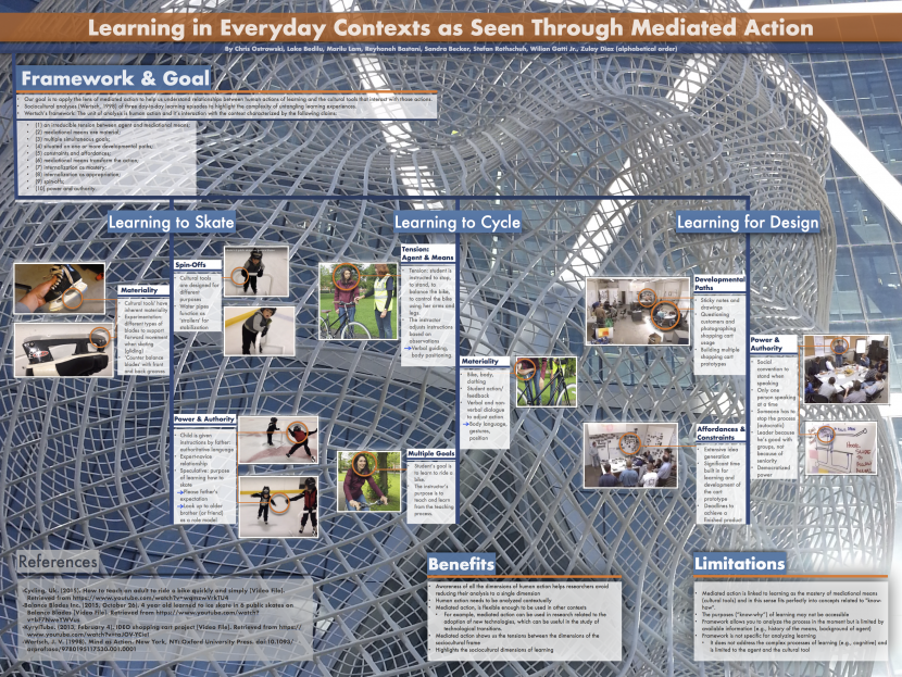 Learning in Everyday Contexts as Seen Through Mediated Action